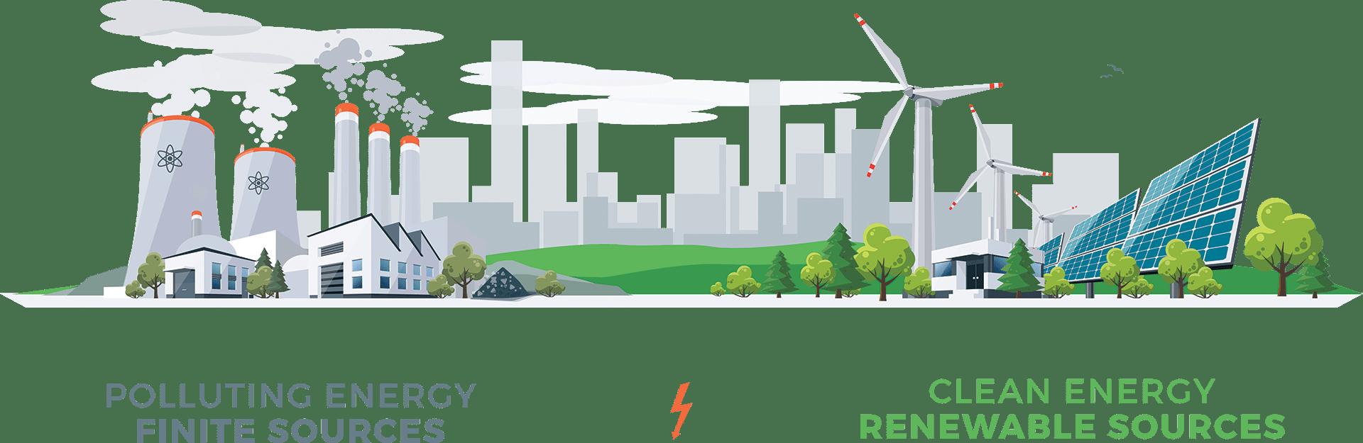 Solar Infographic - Clean Renewable Energy